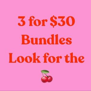 3/ $30 Bundle Items